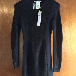 NWT BCBG Black knit sweater dress